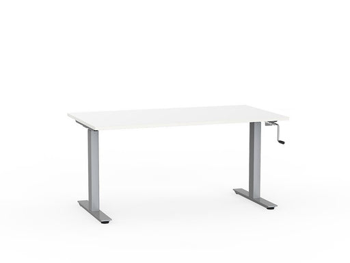 Agile Silver Winder Height Adjustable 1.5m Desk