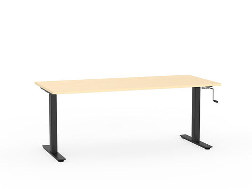 Agile Black Winder Height Adjustable 1.8m Desk