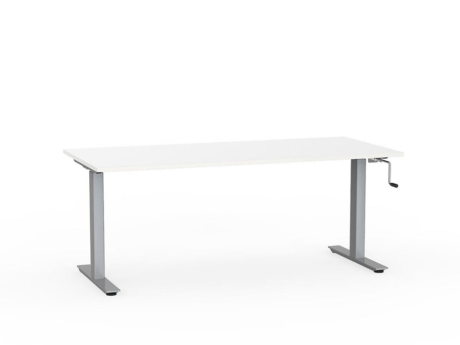Agile Silver Winder Height Adjustable 1.8m Desk