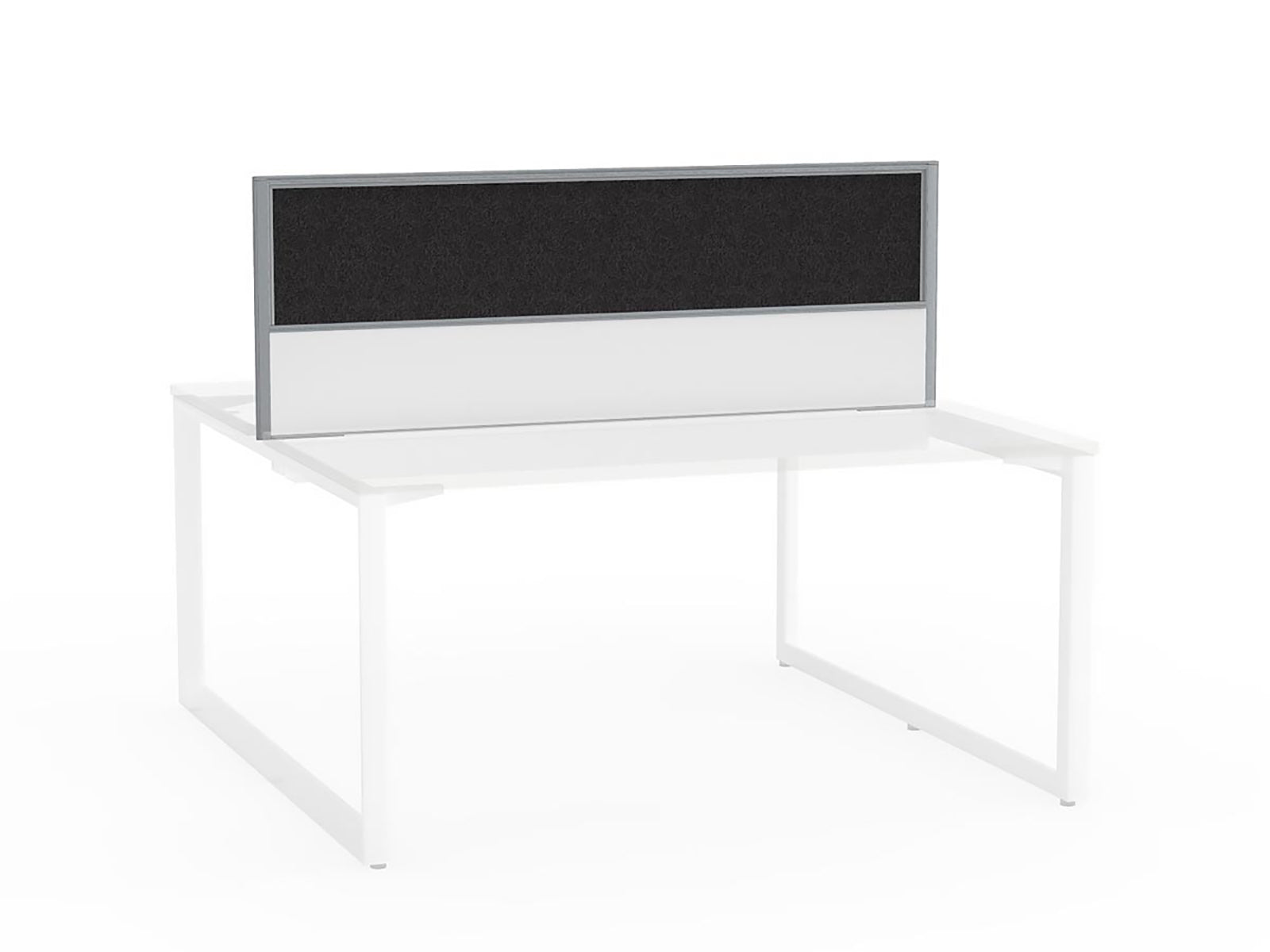 Tech Panel Screen for Anvil Shared 1.5m Desk - 2 User - Workspace Furniture Home and Office Desktop Mounted Partitions