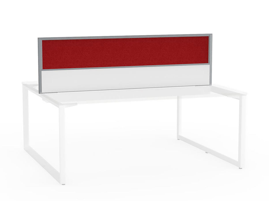 Tech Panel Screen for Anvil Shared 1.8m Desk - 2 User - Workspace Furniture Home and Office Desktop Mounted Partitions