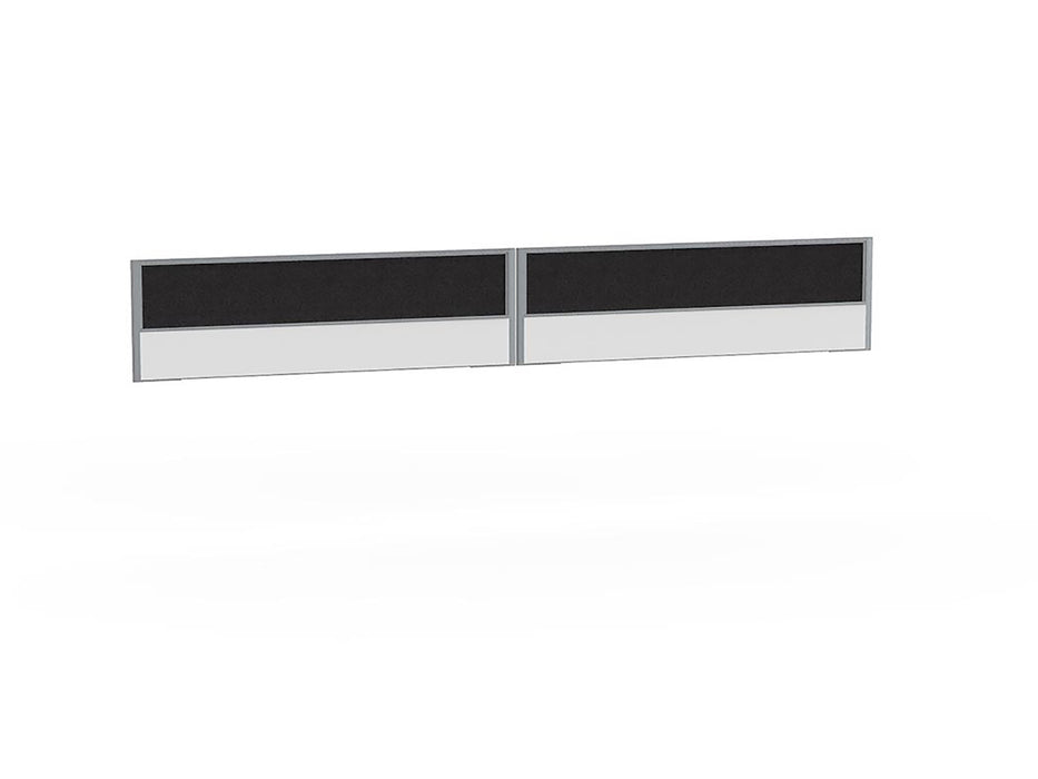 Tech Panel Screen for Anvil Shared 1.8m Desk - 4 User - Workspace Furniture Home and Office Desktop Mounted Partitions