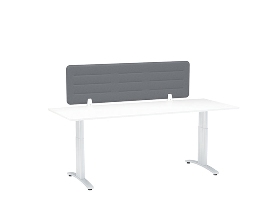 Boyd Fabric Desk Screen 138cm - Workspace Furniture Home and Office Desktop Mounted Partitions