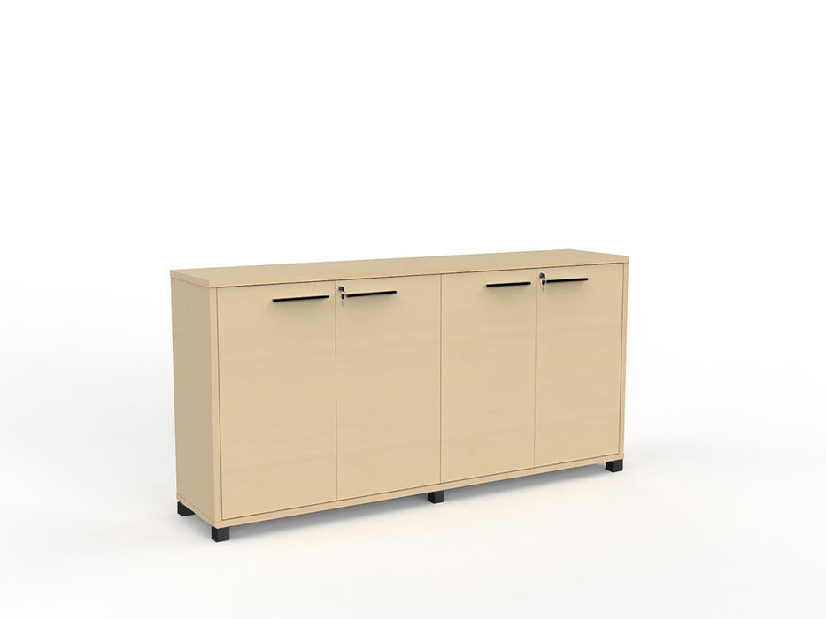 Cubit Black Detail 1.8m Credenza - Workspace Furniture Home and Office Cupboards and Shelves