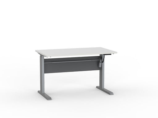 Cubit Silver Electric Height Adjustable 1.2m Desk