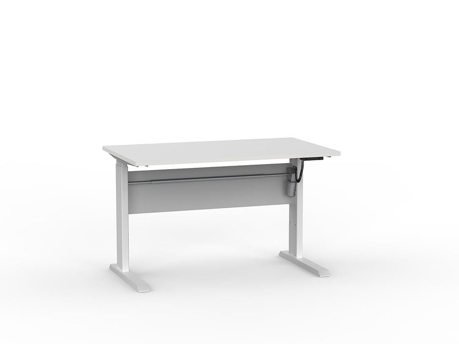 Cubit White Electric Height Adjustable 1.2m Desk