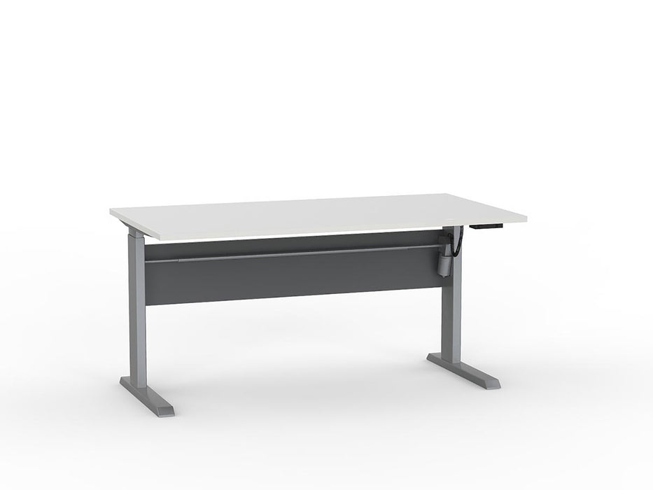 Cubit Silver Electric Height Adjustable 1.5m Desk