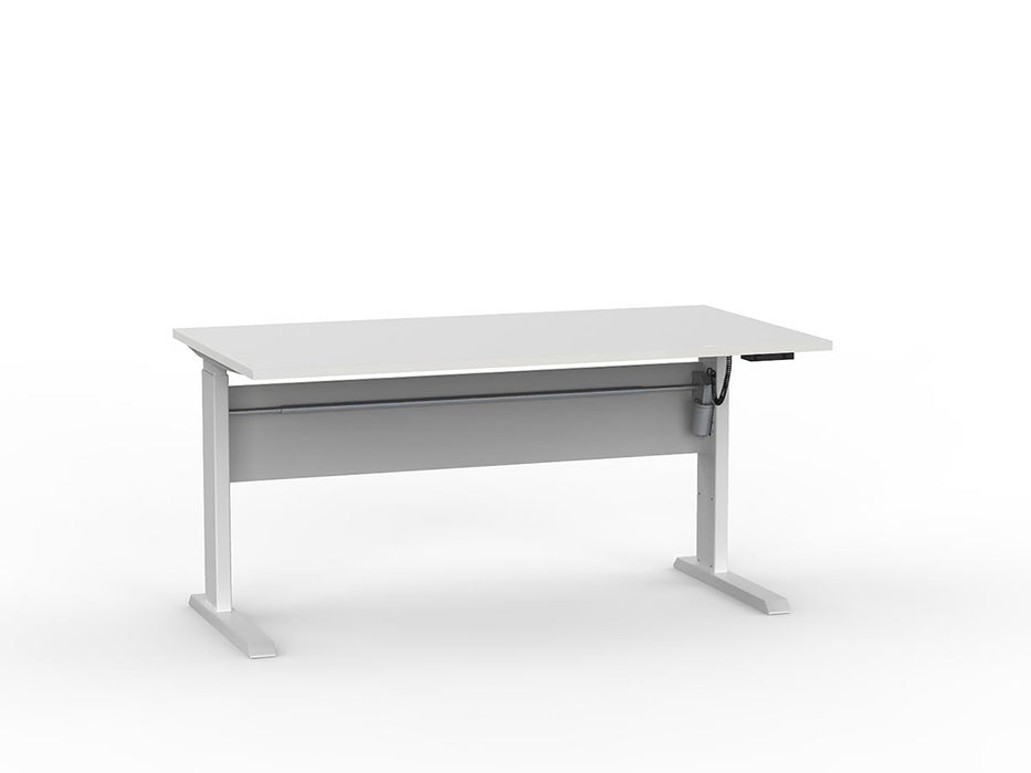 Cubit White Electric Height Adjustable 1.5m Desk