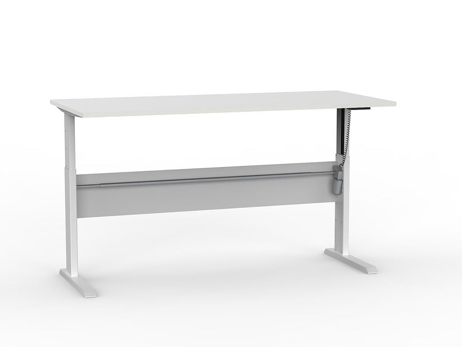 Cubit White Electric Height Adjustable 1.8m Desk