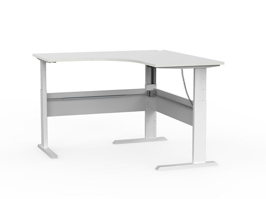 Cubit White Electric Height Adjustable 1.5m Workstation