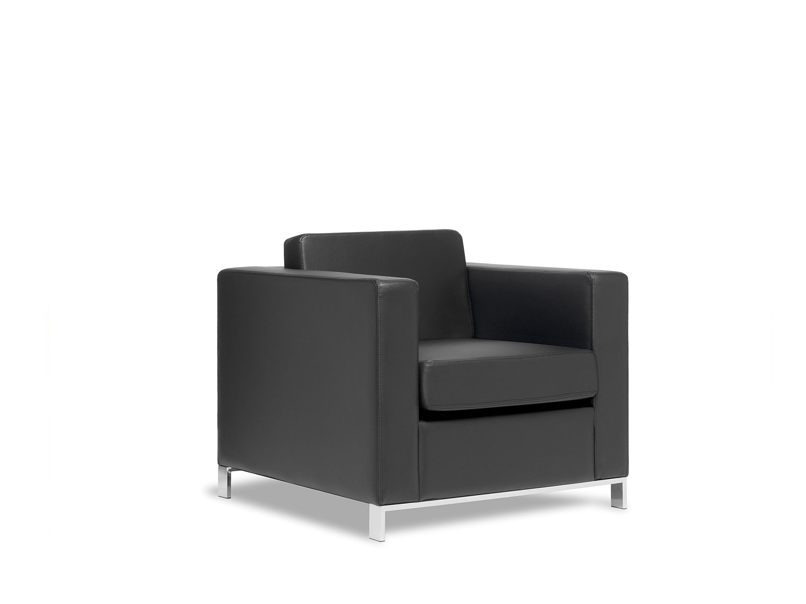 Carlo 1 Seater- Workspace Furniture Home and Office Soft Seating and Ottomans
