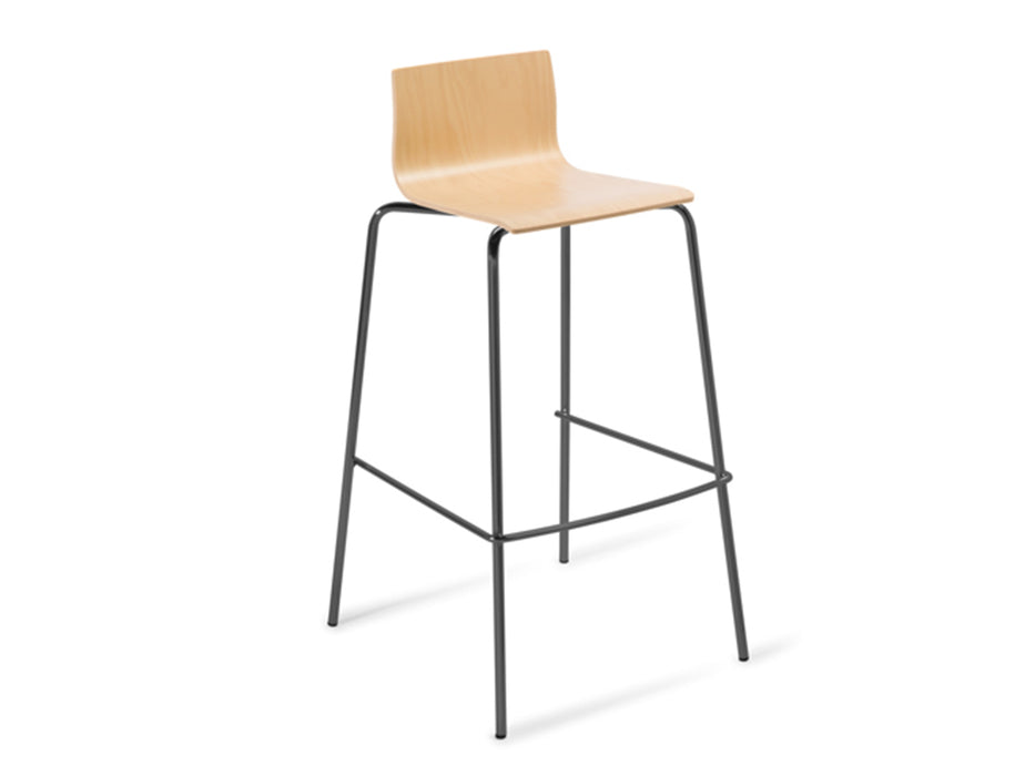 Cruise 4-Leg Bar Stool - Workspace Furniture Home and Office Bar Stools