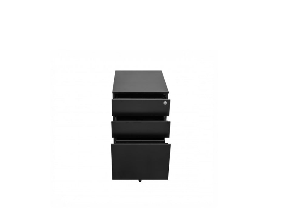 Europlan Steel Pedestal Black - Workspace Furniture Home and Office Drawers