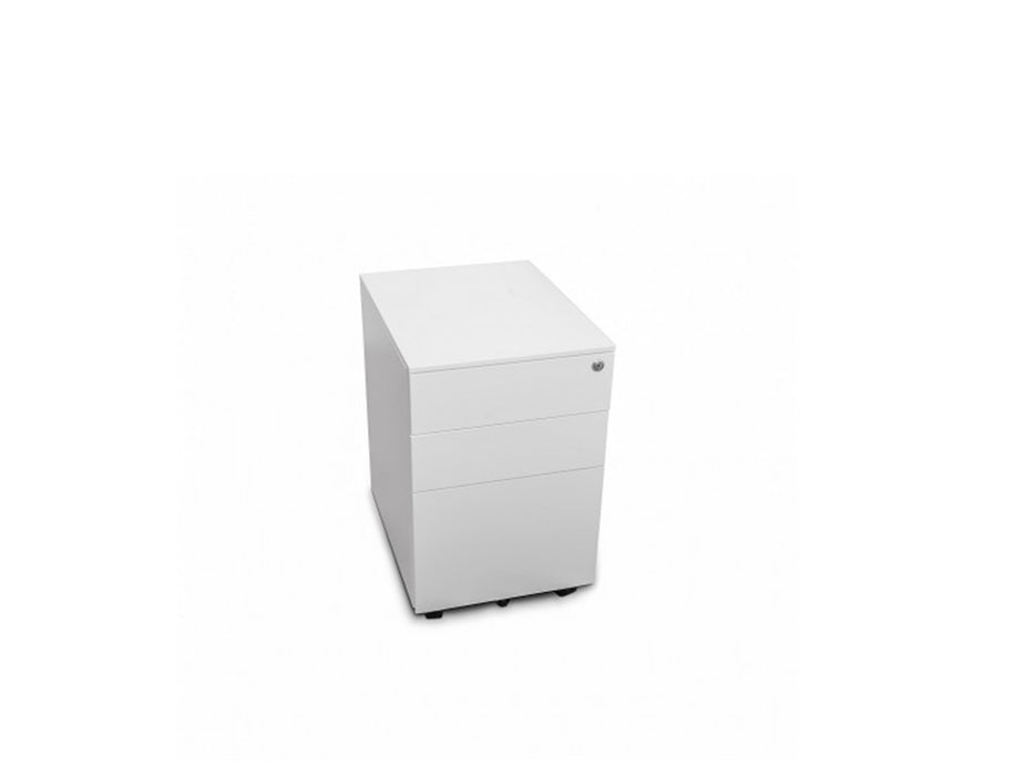 Europlan Steel Pedestal White - Workspace Furniture Home and Office Drawers