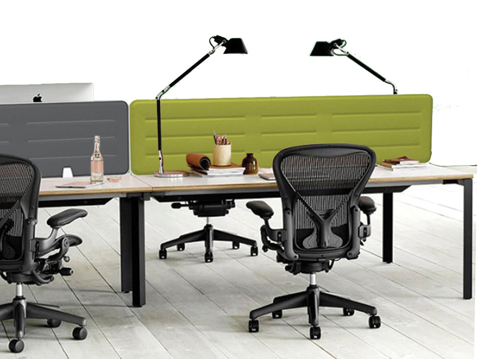 Boyd Fabric Desk Screen 118cm - Workspace Furniture Home and Office Desktop Mounted Partitions