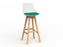 Luna Oak Barstool - Workspace Furniture Home and Office Cafe Chairs