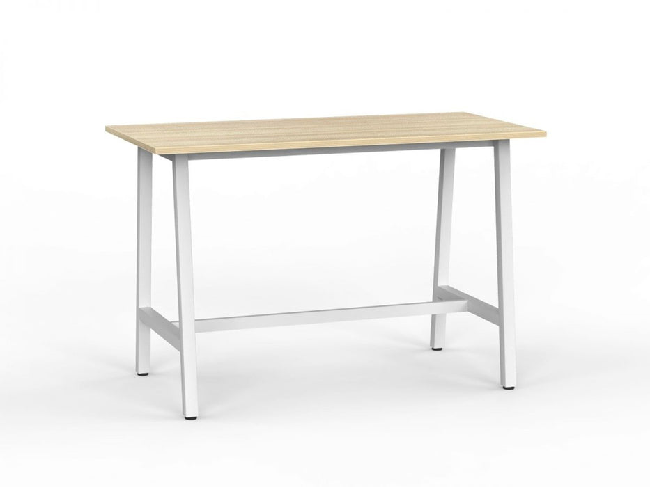 Cubit White 1.6m Bar Leaner - Workspace Furniture Home and Office Cafe Tables