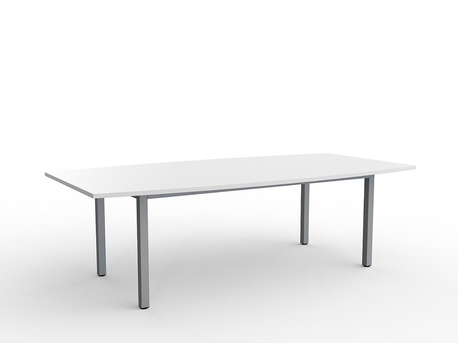 Cubit Silver 2.4m Boardroom Table - Workspace Furniture Home and Office Meeting Tables