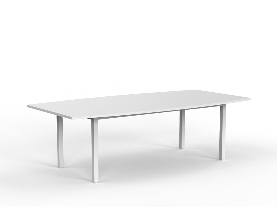 Cubit White 2.4m Boardroom Table - Workspace Furniture Home and Office Meeting Tables