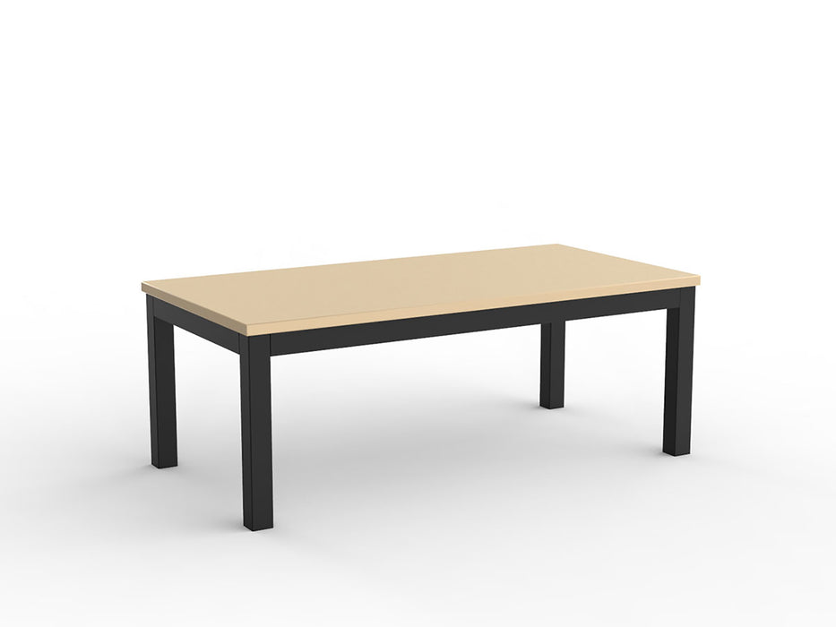 Cubit Black 120cm Coffee Table - Workspace Furniture Home and Office Coffee Tables