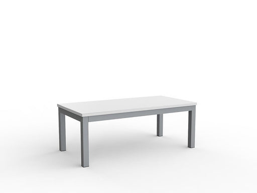 Cubit Silver 120cm Coffee Table - Workspace Furniture Home and Office Coffee Tables