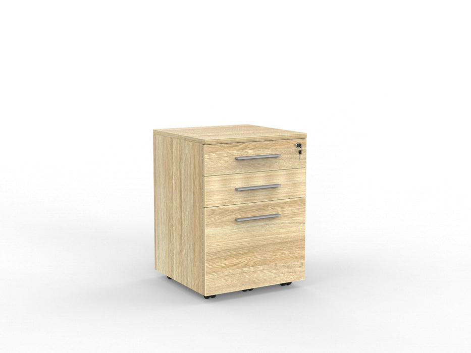 Cubit Locking 3 Draw Mobile - Workspace Furniture Home and Office Drawers