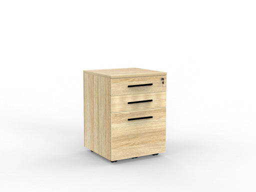 Cubit Black Detail Locking 3 Draw Mobile - Workspace Furniture Home and Office Drawers