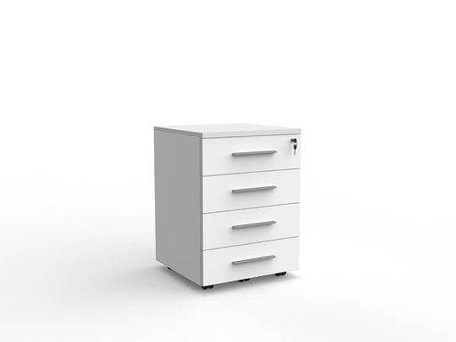 Cubit Locking 4 Draw Mobile - Workspace Furniture Home and Office Drawers