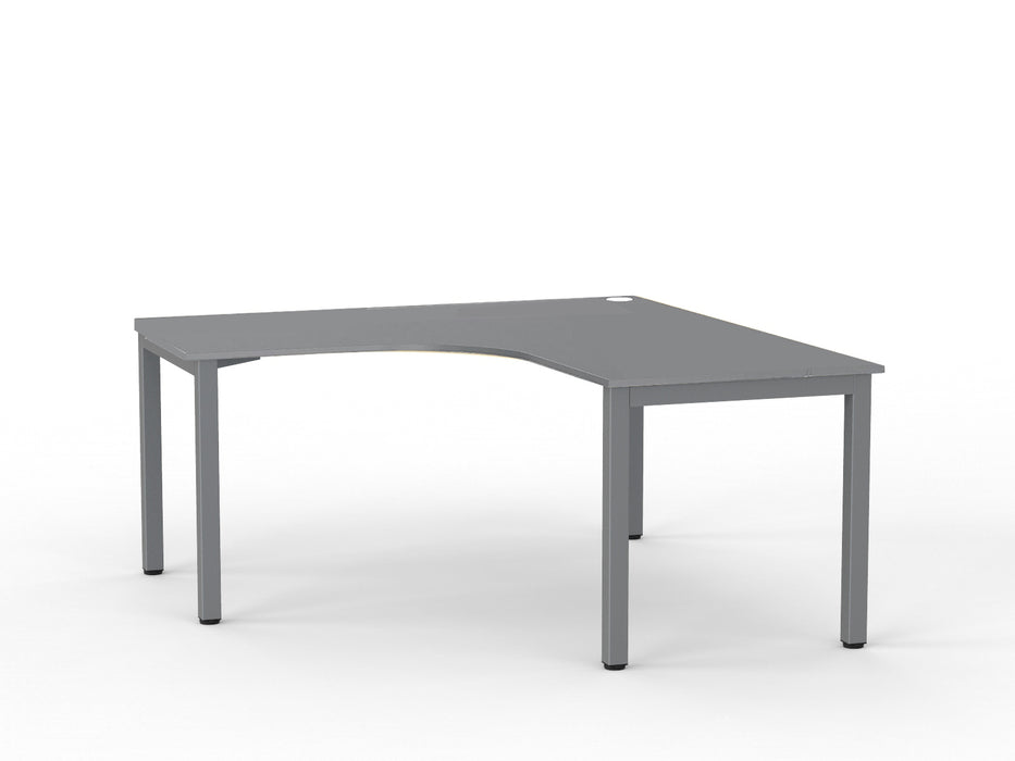 Cubit Silver 1.5m Workstation - Workspace Furniture Home and Office Desks