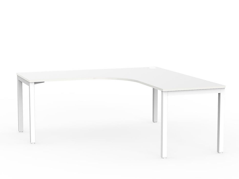 Cubit White 1.8m Workstation - Workspace Furniture Home and Office Desks