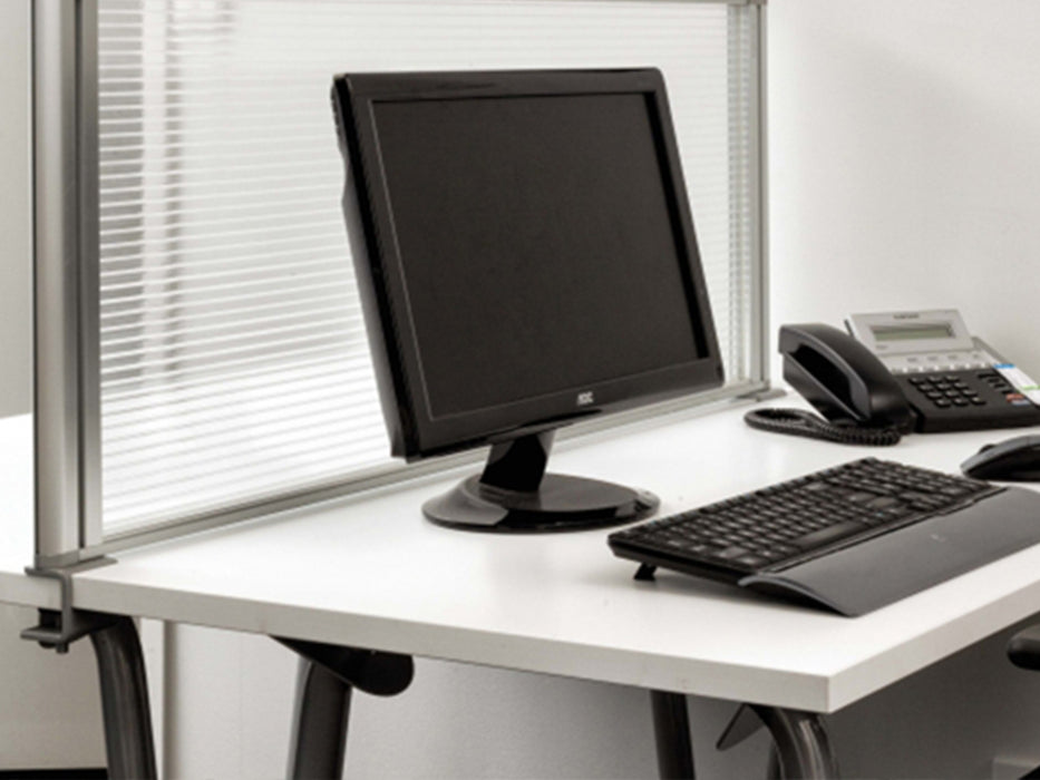 Boyd Desk Screen 146cm - Workspace Furniture Home and Office Desktop Mounted Partitions