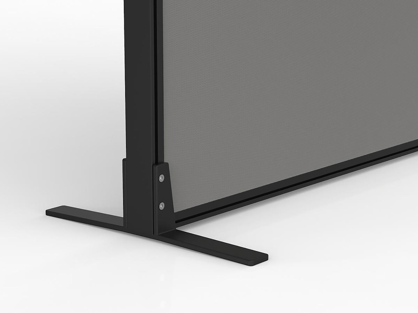 Studio50 Black Frame Freestanding Foot - Workspace Furniture Home and Office Floor Standing Partitions