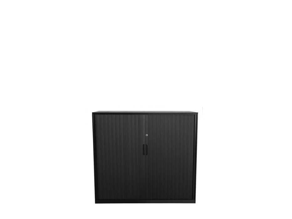 Proceed Tambour 1.2 x 1m Black - Workspace Furniture Home and Office Tambours and Planters