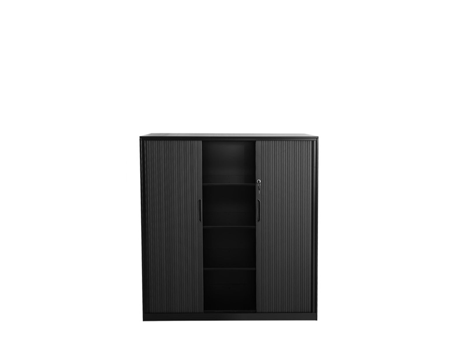 Proceed Tambour 1.2 x 1.2m Black - Workspace Furniture Home and Office Tambours and Planters
