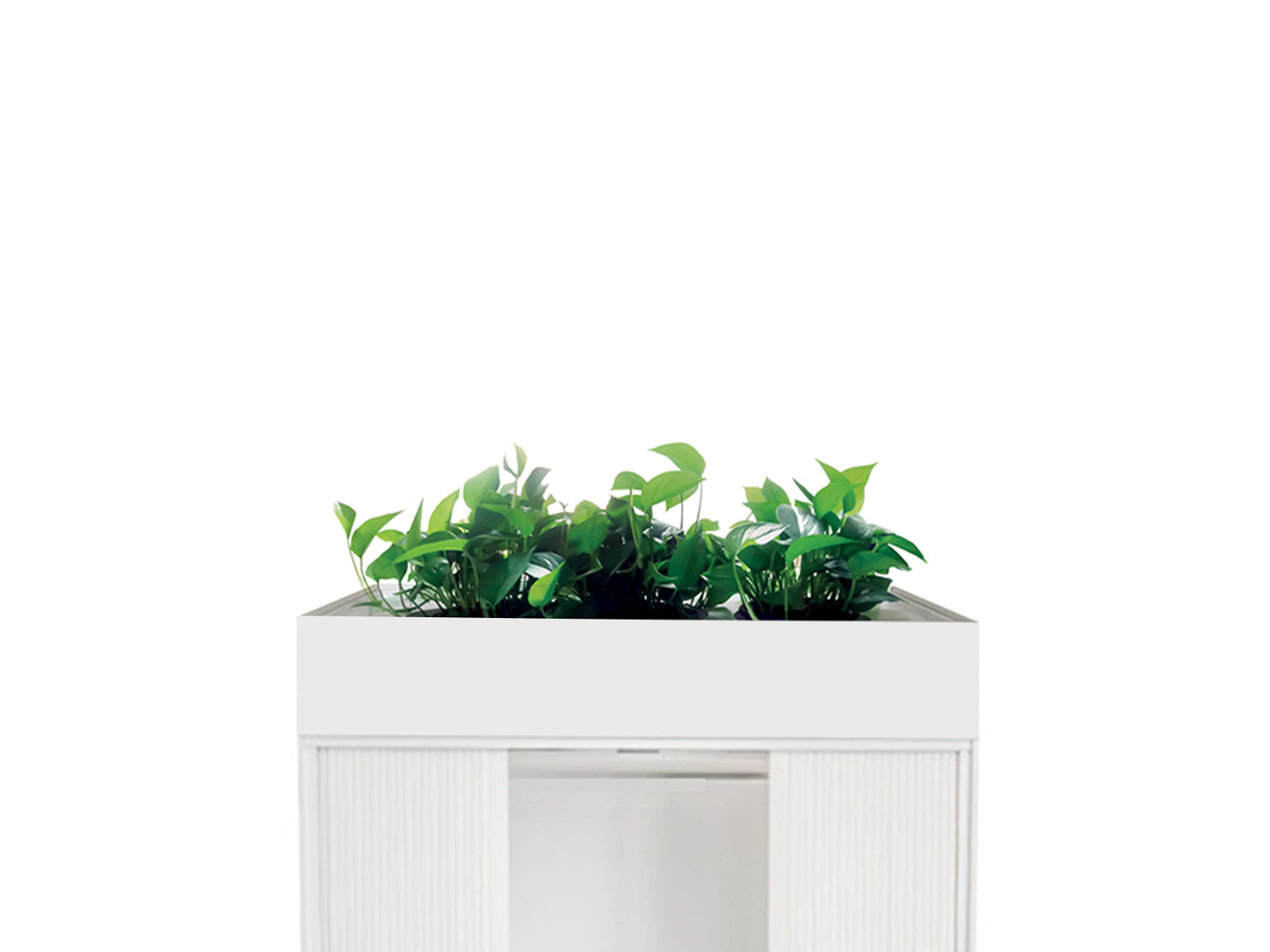 Proceed Tambour Planter 1.2m White - Workspace Furniture Home and Office Tambours and Planters