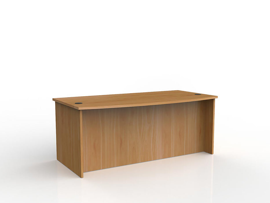 Ergoplan 1.8m Bow Front Desk - Workspace Furniture Home and Office Desk
