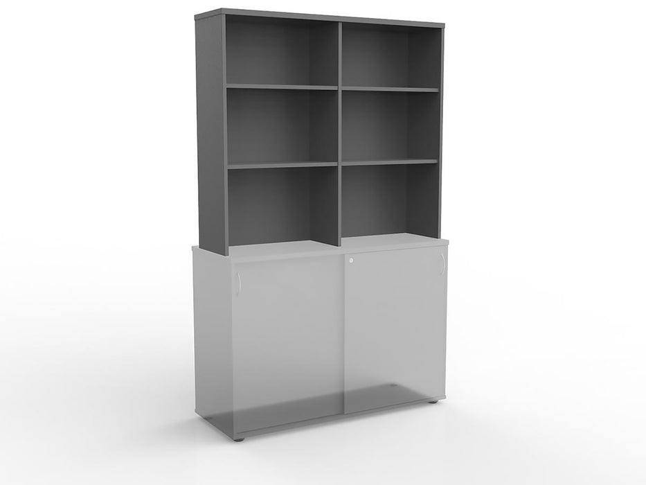 Ergoplan Silver 1.2m Hutch - Workspace Furniture Home and Office Cupboards and Shelves