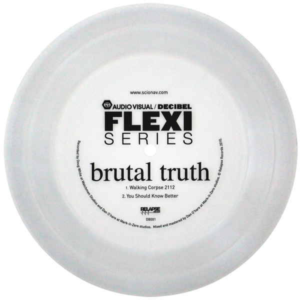 Decibel flexi series Brutal Truth flexi disc
