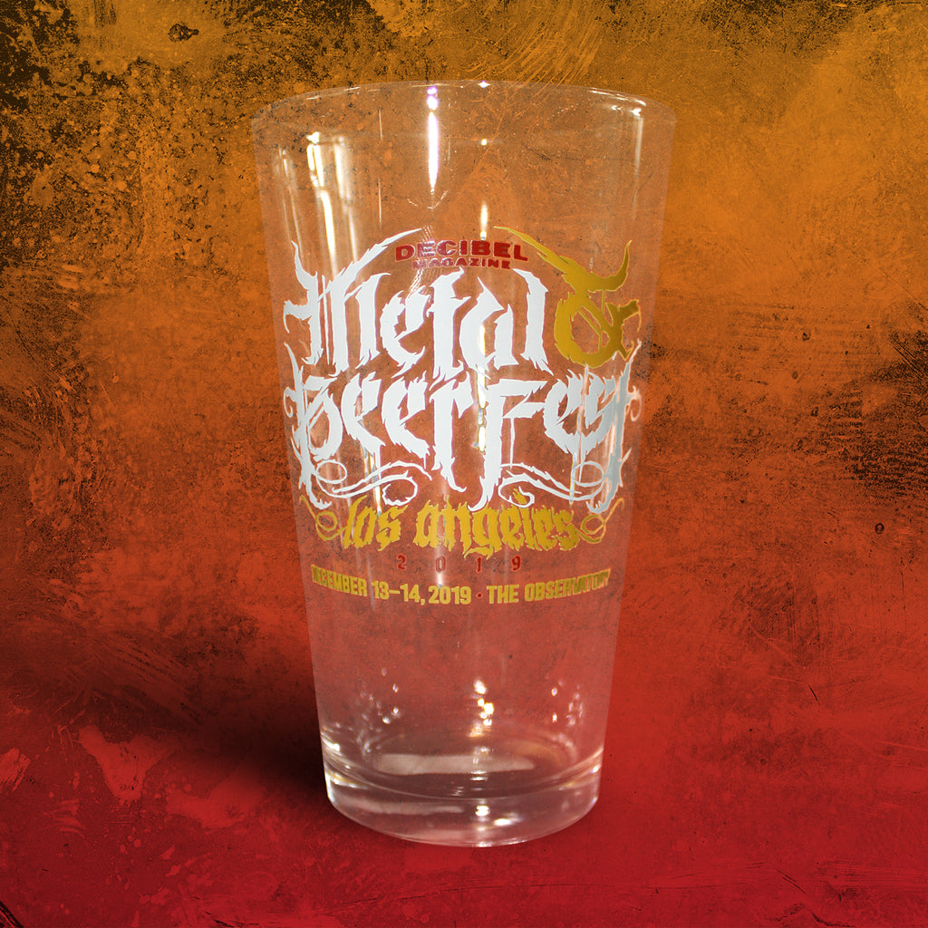 Decibel Metal & Beer Fest Los Angeles 2019 Pint Glass