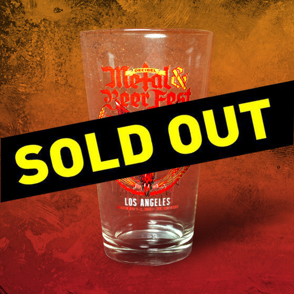 Decibel Metal & Beer Fest Los Angeles 2018 Pint Glass