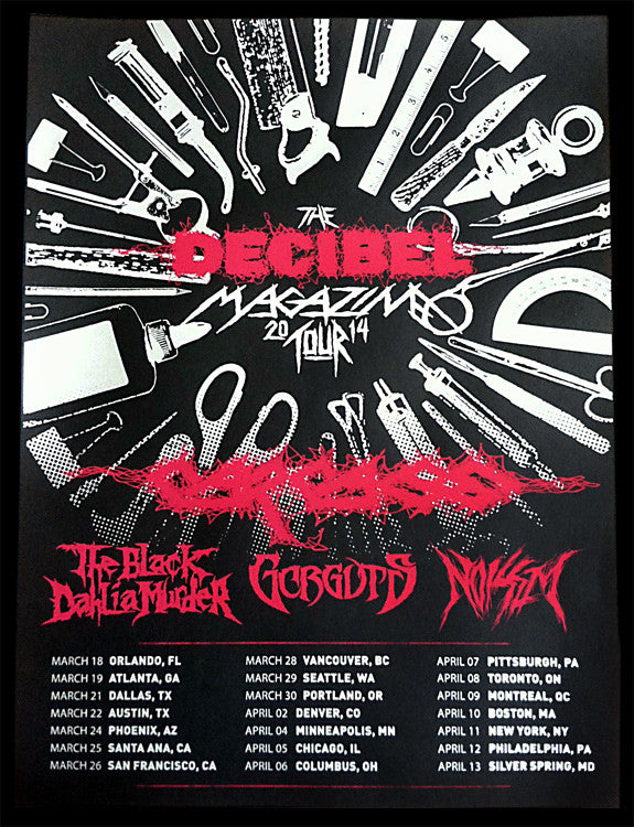 Decibel Tour 2014 Poster