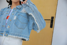 "Load image into Gallery viewer, ""DATE"" DENIM JACKET"