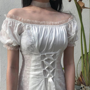 """LADY IN WHITE"" DRESS"