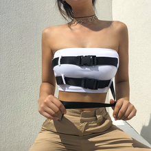 "Load image into Gallery viewer, ""BELT BUCKLED"" CROP TOP"