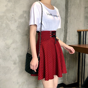 BOW KNOT GINGHAM SKIRT (2 COLORS)