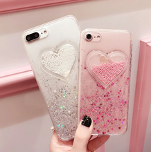 "Load image into Gallery viewer, ""GLITTER HEARTS"" IPHONE CASE (2 COLORS)"