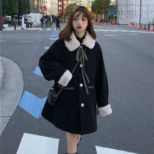 "Load image into Gallery viewer, ""MISSY"" BLACK COAT"