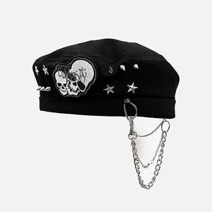 """SKULL AND STARS"" CHAIN HAT"