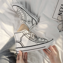 "Load image into Gallery viewer, ""CARTOON"" SNEAKERS (2 COLORS)"
