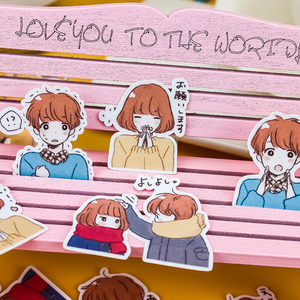"""COZY BOY / GIRL"" STICKERS"